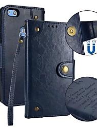 Недорогие -Кейс для Назначение Huawei P10 Lite / P10 Кошелек / Бумажник для карт / Флип Чехол Однотонный Твердый Кожа PU для P10 Lite / P10 / Huawei P9 Lite