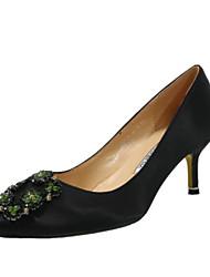 preiswerte -Damen Schuhe PU Frühling Sommer Pumps High Heels Stöckelabsatz Spitze Zehe Strass für Normal Party & Festivität