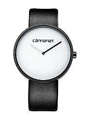 cheap -Women's Fashion Watch Quartz Casual Watch PU Band Analog Fashion Minimalist Black / Brown - White Black Brown