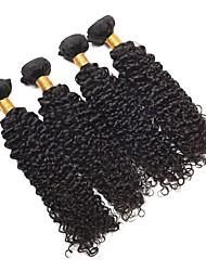 abordables -4 paquetes Cabello Malayo Kinky Curly Cabello humano Tejidos Humanos Cabello / Cabello Bundle / Un paquete de soluciones 8-28 pulgada Cabello humano teje Extensión / Mejor calidad / Gran venta Color