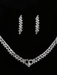 cheap -Women's Cubic Zirconia / Rhinestone Imitation Diamond Drop Jewelry Set 1 Necklace / Earrings - Classic / Vintage / Elegant Geometric