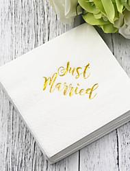 abordables -Papier pur Serviettes de mariage - 5pcs Serviette de dîner Mariage Saint Valentin Thème classique