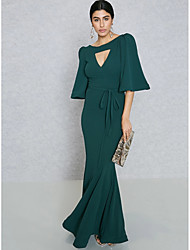 cheap -Women's Sophisticated Street chic Bodycon Sheath Trumpet / Mermaid Dress - Solid Colored