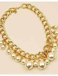 Недорогие -Ожерелья с подвесками - Радость Мода, Элегантный стиль Золотой 42 cm Ожерелье Назначение Свадьба, Для вечеринок