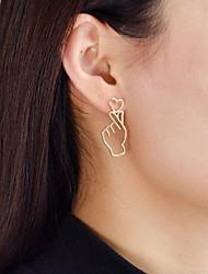 cheap -Women's Heart Drop Earrings - Casual / Fashion Gold Earrings For Daily / Date