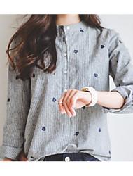 preiswerte -Damen Punkt-Grundlegend Hemd