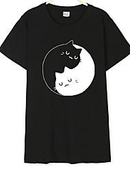baratos -Mulheres Camiseta - Para Noite Moda de Rua Animal