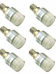 Недорогие -6шт 3W 200lm E14 G9 Двухштырьковые LED лампы T 20 Светодиодные бусины SMD 3014 Декоративная Тёплый белый 220-240V
