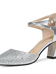 preiswerte -Damen Schuhe Glitzer Sommer / Herbst Gladiator / Pumps High Heels Blockabsatz Gold / Silber / Party & Festivität