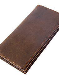 cheap -Men's Bags Cowhide Wallet Tiered Coffee