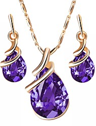 cheap -Crystal Jewelry Set - Drop, Lips European Include Purple / Red / Blue For Daily / Earrings