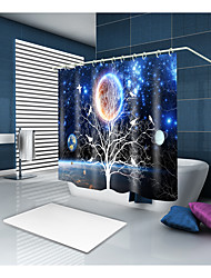 cheap -Shower Curtains & Hooks Neoclassical Polyester Novelty Machine Made Waterproof Bathroom
