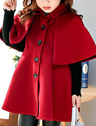 cheap -Girls' Solid Jacket & Coat, Cotton Rayon Polyester Winter Fall Cute Casual Active Brown Red