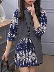 cheap -Kids Girls' Street chic Print Long Sleeve Clothing Set
