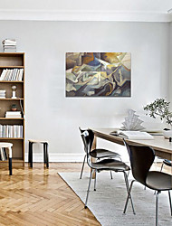 baratos -Estampado Laminado Impressão De Canvas - Abstrato Modern