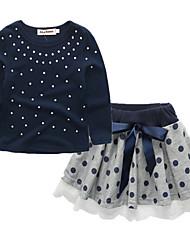 povoljno -dječja odjeća za odjeću od polka dot, crna pamučna opruga