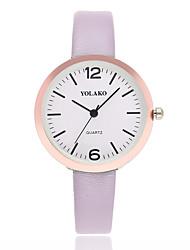 preiswerte -Damen Quartz Armbanduhr Chinesisch Armbanduhren für den Alltag PU Band Minimalistisch Schwarz Weiß Blau Rot Braun Grau Rosa Rose