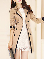 preiswerte -Damen - Solide Trench Coat Klassicher Stil