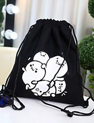 Недорогие -Жен. Мешки холст рюкзак С отверстиями Белый / Черный