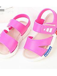 billige -Pige Drenge Sko PVC Sommer Første gåsko Komfort Sandaler for Afslappet Sort Rosa Lys pink Marineblå