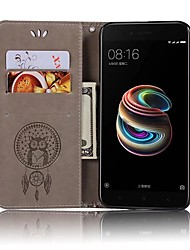 Недорогие -Кейс для Назначение Xiaomi Mi 6 / Mi 5s Кошелек / Бумажник для карт / Флип Чехол Сова Твердый Кожа PU для Xiaomi Mi 6 / Xiaomi Mi 5X / Xiaomi Mi 5s