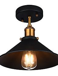 billiga -diameter 26cm industriell taklampa semi-flush vintage metall 1-ljus taklampa matsal kök ljus