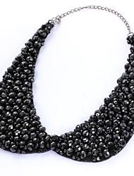 Недорогие -Воротничок - Свисающие Массивный, Элегантный стиль Черный 35 cm Ожерелье Бижутерия Назначение Свадьба, Для вечеринок