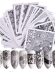 cheap -48pcs Nail Sticker Nail Stamping Template Transfer Paper Flower