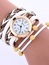 baratos -Mulheres Quartzo Relógio de Pulso Chinês Relógio Casual PU Banda Casual Fashion Preta Branco Azul Vermelho Cinza Rose