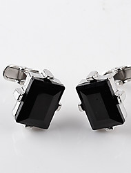 cheap -Black Cufflinks Alloy Envelope / Rectangular European / Fashion Men's Costume Jewelry For Wedding / Formal
