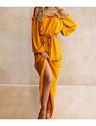 abordables -Mujer Bonito Vaina Vestido Un Color Maxi Sobre la rodilla