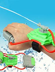 abordables -Mini Wrist Squirt Water Gun Aspersores Tema Playa Alivio del estrés y la ansiedad Interacción padre-hijo Carcasa de plástico Regalo 1pcs