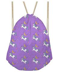 Недорогие -Жен. Мешки холст рюкзак С отверстиями Розовый / Лиловый / Желтый