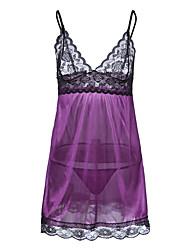 cheap -Women's Babydoll & Slips Nightwear - Lace, Color Block