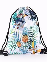 baratos -Mulheres Bolsas Tela de pintura mochila Vazados para Casual Arco-íris