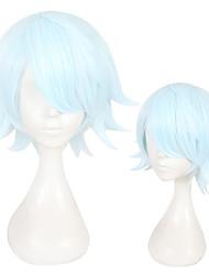 Недорогие -Парики из искусственных волос Прямой Стрижка каскад Природные волосы Зеленый Жен. Без шапочки-основы Парики для косплей Короткие