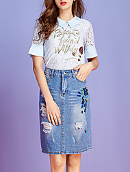 povoljno -Žene Majica - Slovo Suknja