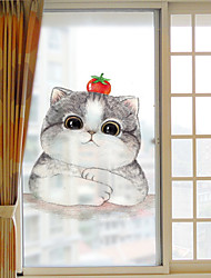 Недорогие -Персонажи Современный Стикер на окна Матовая, ПВХ/винил материал окно Украшение