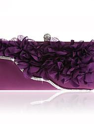 Недорогие -Жен. Мешки Satin Вечерняя сумочка Кристаллы / Цветы Геометрический принт Розовый / Лиловый / Пурпурный