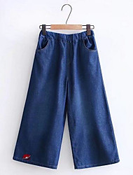 cheap -Women's Basic Loose Wide Leg Pants - Solid Colored