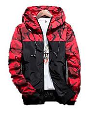 cheap -Men's Basic Jacket - Geometric, Print