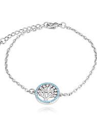 abordables -Femme Zircon Bracelet - Arbre de la vie Européen, Mode Bracelet Or / Argent Pour Quotidien