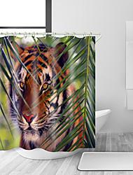 abordables -Rideaux de douche et anneaux Moderne Rustique Polyester Moderne Animal Fabrication à la machine Imperméable Salle de Bain