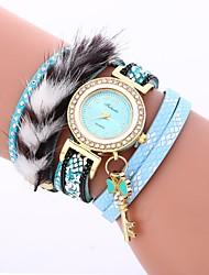 Недорогие -Жен. Модные часы Китайский Повседневные часы / Имитация Алмазный PU Группа На каждый день / Богемные Черный / Белый / Синий