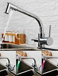 cheap -Kitchen faucet - Contemporary Chrome Standard Spout Deck Mounted