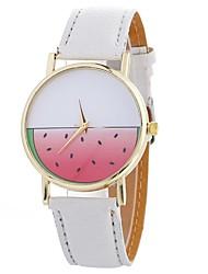 Недорогие -Жен. Кварцевый Модные часы Китайский Крупный циферблат PU Группа На каждый день Мода Черный Белый Синий Красный Коричневый Бежевый