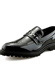Недорогие -Муж. Платья Кожа Лето / Осень Удобная обувь Туфли на шнуровке Золотой / Черный