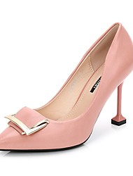 cheap -Women's Shoes PU(Polyurethane) Spring / Fall Basic Pump Heels Stiletto Heel Pointed Toe Black / Pink / Party & Evening