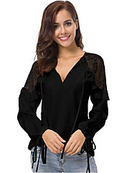 cheap -Women's Basic Blouse - Solid Colored Lace