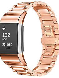 Недорогие -Ремешок для часов для Fitbit Charge 2 Fitbit Бабочка Пряжка Нержавеющая сталь Повязка на запястье